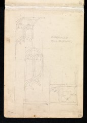 Studies of the traceries on the parclose screen, St Edmund, Southwold, Suffolk 1897