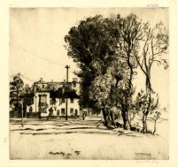 'Southwold,' 1913. Drypoint, 225 x 235 mm