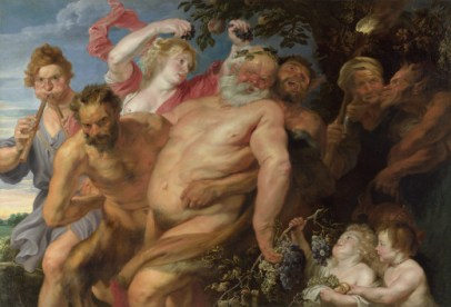 Attributed to Anthony van Dyck: Drunken Silenus Supported by Satyrs, c. 1620
