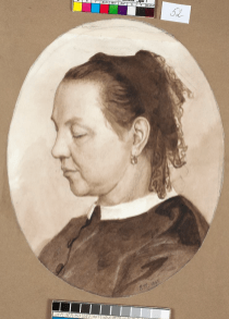 Портрет М.А. Поленовой, матери / Portrait of the Artist's Mother. c 1865. Watercolour on paper, 24 x 30.8 cm