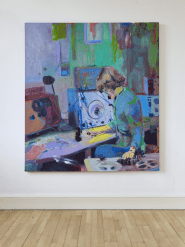 Daphne Oram. 2014. Oil on canvas, 200 x 180 cm. Photography: John McKenzie. Location: Scottish National Gallery of Modern Art © The Artist and the National Galleries of Scotland.