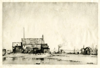 "'Walberwick Ferry,' c. 1900. Drypoint, 6 7/8 x 10 7/16"" image"