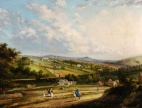 Unknown artist: View of Sheffield from Sharrow Moor, 1838