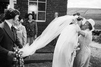 Wedding, Crimsworth Dean Methodist Chapel, 1977, by Martin Parr