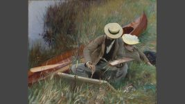 Paul Helleu sketching with his wife (An Out-of-Doors Study), 1889. Brooklyn Museum of Art