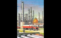 From THE STORY OF OIL, 1968. Illustration by Robert Ayton