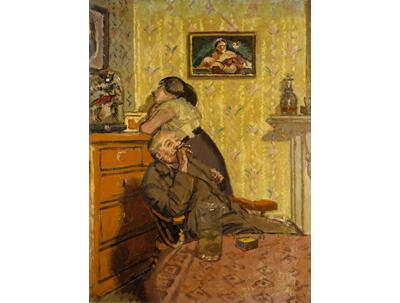 Walter Sickert: Ennui, 1917. Oil on canvas, h. 76 x w. 56 cm