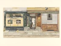 Phyllis Dimond, Kinnerton Street, Wilton Place, S.W.1. 1943, watercolour