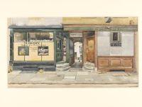 Phyllis Dimond, Kinnerton Street, Wilton Place, S.W.1. 1943, watercolour
