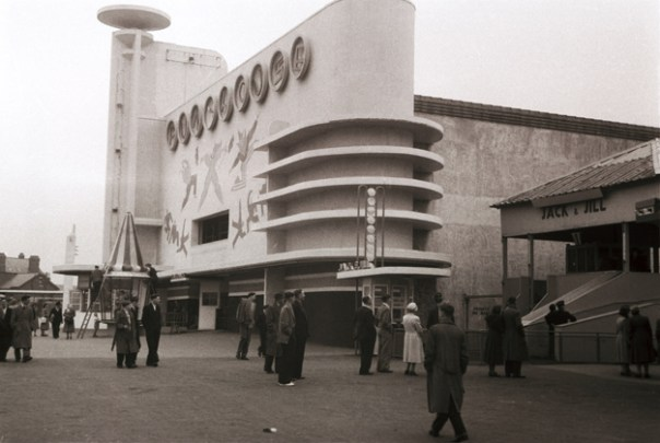 Fun House at Blackpool Pleasure Beach, 1935. Joseph Emberton Archive, University of Brighton Design Archives.