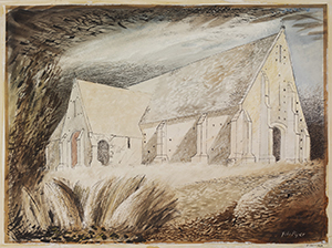 John Piper, The Tithe Barn, Great Coxwell, Berkshire (detail), 1940