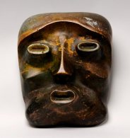 Mask of Apollo in Autumn, 1933. Painted wood.