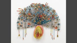 Zanzidae: Peacock Series, 1979. Wire mesh, enamel, glass and plastic