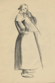 Spanish Peasant Woman (standing), 1936 by Felicia Browne. Private Collection © the Estate of Felicity Browne