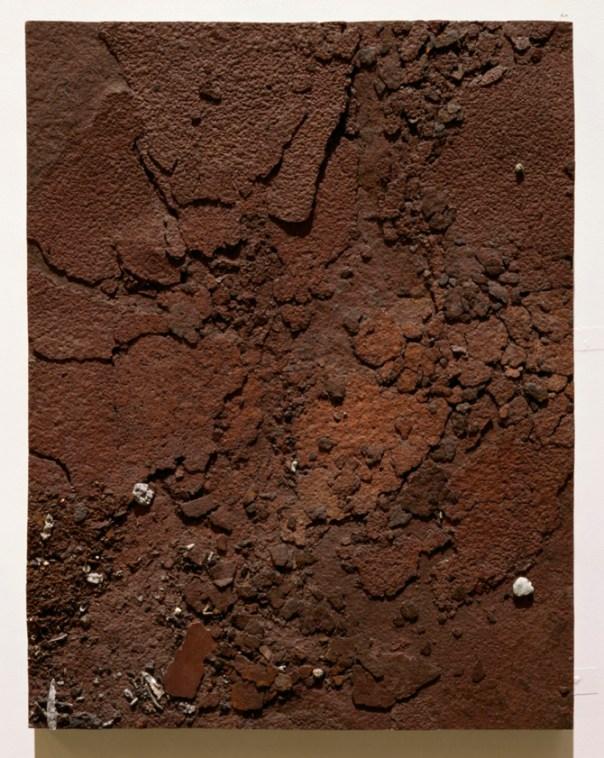 Study of Rusting Metal Plate, 2001/2. Mixed media, resin and fibreglass