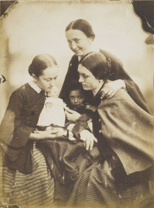 Jean-Baptiste Frénet, Women and girls with a doll, circa 1855 © Wilson Centre for Photography