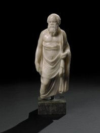 Marble statuette of Socrates (a Hellenistic original of the 2nd century BC, or a Roman copy, Alexandria, Egypt).