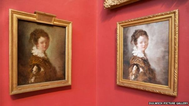 """Since February, Jean-Honore Fragonard's 18th Century work Young Woman has been replaced by a $120 (£70) counterfeit, produced in China"""