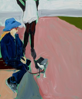 Pinky, 2014. Oil on board. Courtesy the artist and Victoria Miro Gallery. ©Chantal Joffe