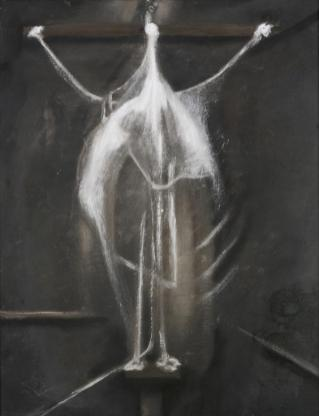 Francis Bacon: Crucifixion, 1933. Oil on canvas, 62 x 48.5cm. Private Collection