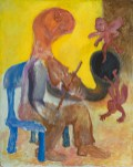 Violinist , 1975, oil on board, 101 x 81 cm
