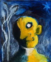 Yellow Head, Night, 1989, oil on board, 65 x 54 cm