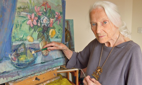 """""""Moira Beaty signed the Official Secrets Act in 1942 and did not talk about her work at Bletchley Park until the late 1980s. She went on to become a highly regarded artist and teacher"""""""