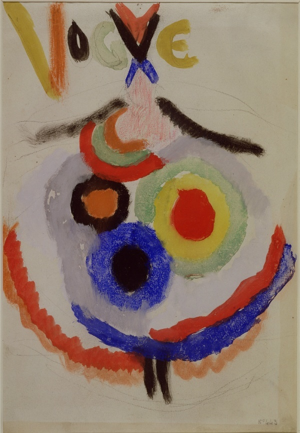 Sonia Delaunay. Project for a cover for Vogue. France. 1916. Gouache and pencil on paper. h. 34.5 x w. 23.3 cm.