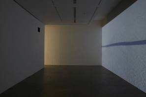 A K Dolven, vertical on my own, 2011. 16mm film transferred to HD video projection with sound. Photo: Stuart Whipps