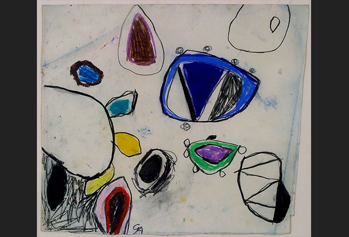 Gillian Ayres,Untitled Drawing (III), Chinese ink on paper. 28 x 36.5 cm. Reproduced courtesy Gillian Ayres. Schlee Collection, Southampton