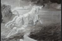 Adriana Swierszczek. Abduction of Europa. 2006. Pencil and charcoal on paper. 110 x 132 cm. © The Artist. Ben Uri Gallery and Museum Collection.