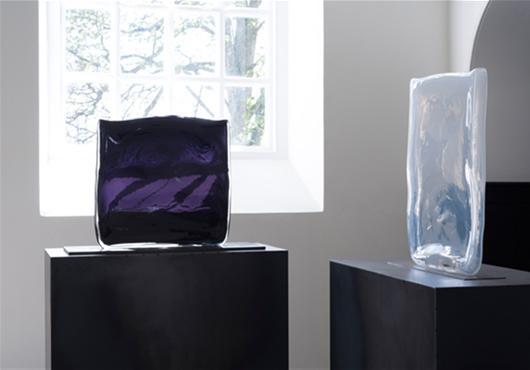 Left: Nero CM Liquid Black (Purple), 2009. Right: Alabaster d, 2013