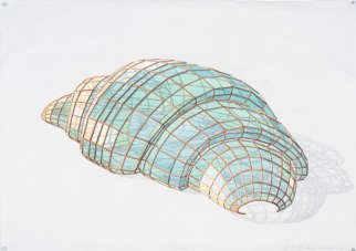 Croissant I, 2013, watercolor on paper