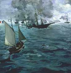 """Édouard Manet: The Battle of the U.S.S. """"Kearsarge"""" and the C.S.S. """"Alabama"""", 1864"""