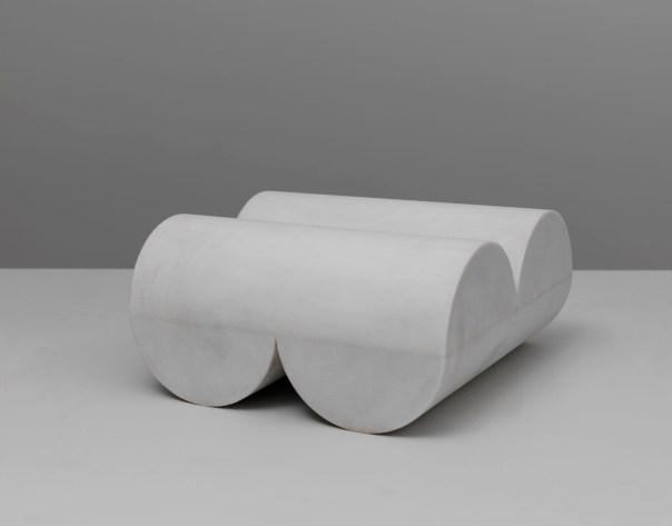 Untitled, 1979. Carrara marble. 21.5 x 43.5 x 43.5 cm
