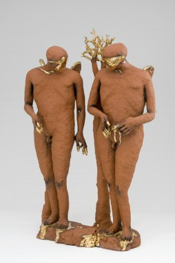 Claire Curneen, In the Tradition of Smiling Angels, 2007, terracotta & gold lustre. © Claire Curneen