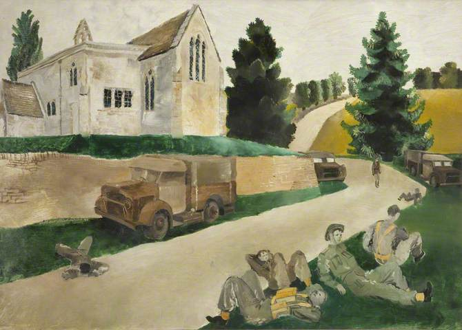 The Minute Halt. Oil on canvas (?), 49 x 74 cm. Harris Museum & Art Gallery
