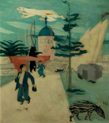 Escape from the Circus, 1938. Oil on canvas, 45.5 x 41.5 cm. Leicester Arts and Museums Service