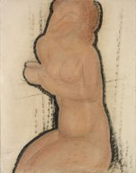 Nude with Cup, c1916. Watercolour, Indian ink and pencil, 64.5 x 50 cm