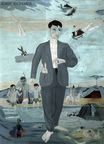 The Seven Legends: Self Portrait, 1939. Tempera on board, 73.5 x 55.6 cm. National Museums Liverpool