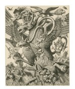 False Gods, 1949. Engraving. 16.3 x 13.1 cm. Private Collection / © Stanley Anderson Estate.