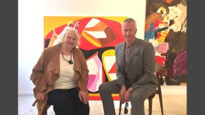 Gillian Ayres and John Wilson (BBC) at the Gallery