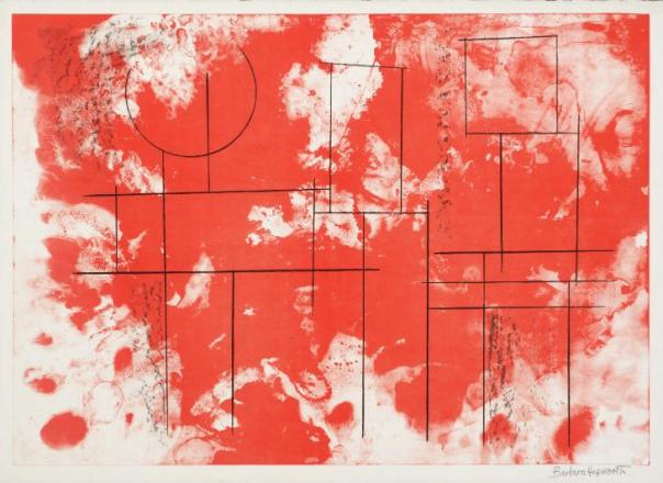 Itea, from The Aegean Suite, 1971. Lithograph on paper, 544 x 765 mm. Tate