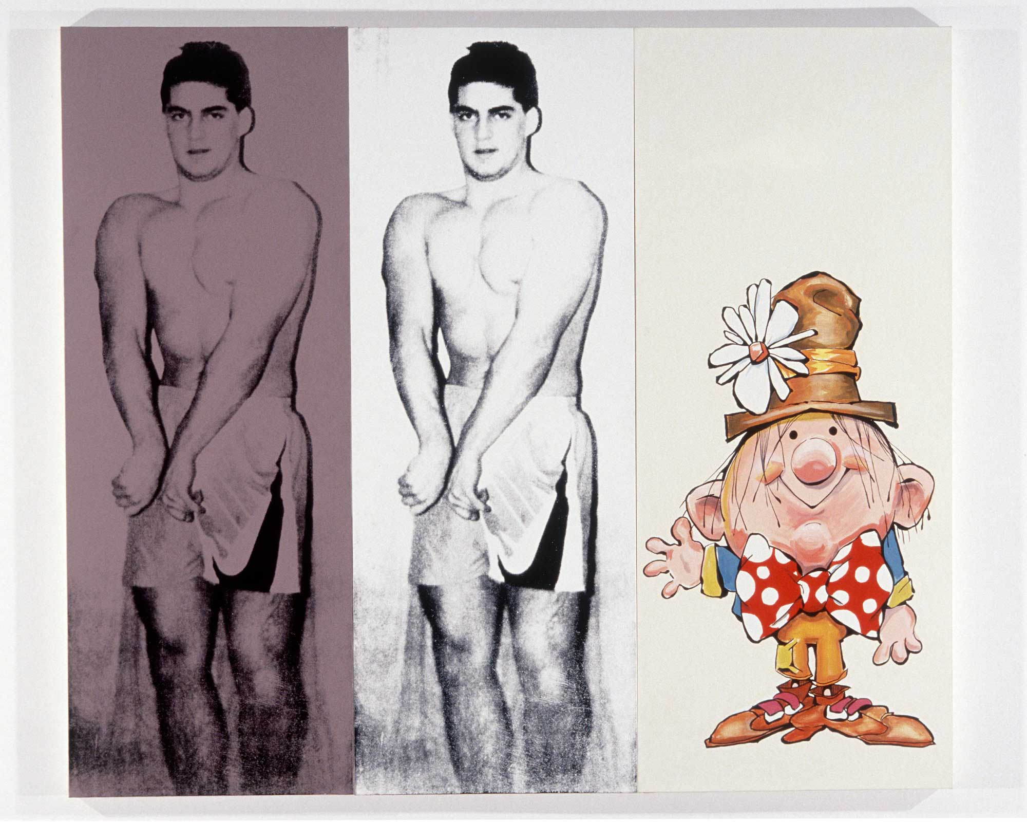 Julia Wachtel, Untitled (Body Builder), 1989. Courtesy the artist, Zabludowicz Collection, and Vilma Gold, London