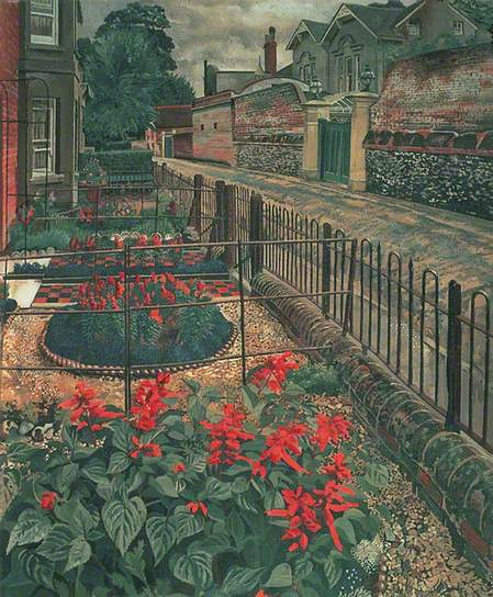 Gardens in the Pound, Cookham, Berkshire, c.1936. Oil on canvas, 91.4 x 76.2 cm. Leeds Museums and Galleries