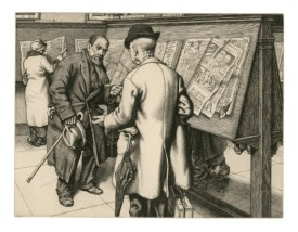 What a Piece of Work is Man! or What is Art?, 1936. Engraving. 15.7 x 20.5 cm. Private Collection / © Stanley Anderson Estate.