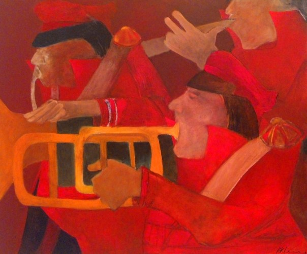 Bandwallas, 2015. Oil on canvas, 76.2 x 91.4cm. (30 x 36 in.)