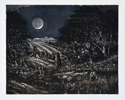 Black Moon. Etching