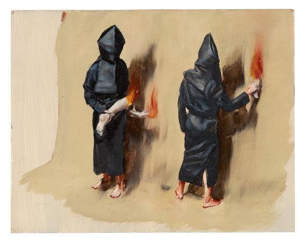Fiery Limbs, 2015. Oil on cardboard. Framed: 16 3/8 x 18 3/4 x 1 5/8 inches (41.6 x 47.5 x 4.2 cm). Unframed: 9 1/8 x 11 1/2 inches (23 x 29.2 cm)