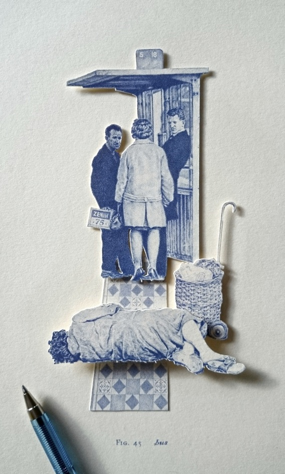 Bus, miniature biro relief